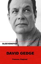 Sleevenotes - David Gedge